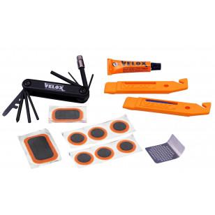 Kit Réparation Complet avec Démontes-Pneus et Multi-Outils Velox VELOX RBA1PC00 Kits réparation