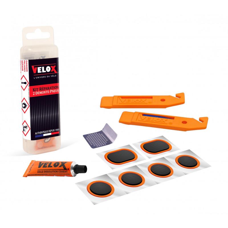 Kit Réparation Trekking/VTT avec Démontes-Pneus Velox