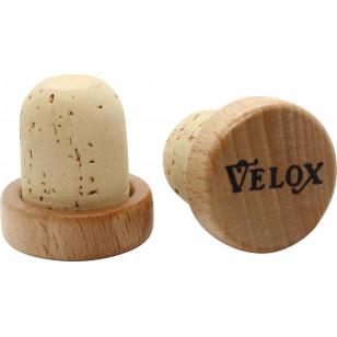 Embouts de guidon Velox - Vintage - Tête Bois Vernis VELOX V30CB02 Guidoline®