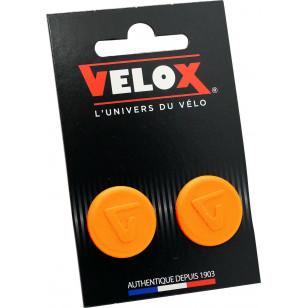 Embouts de guidon Velox - Orange Fluo VELOX V027K804C Guidoline®